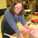 Artist In Residence-Touch Drawing-2014 -South Whidbey Elementary School
