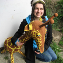 Jessica Martin and the Giraffe
