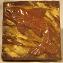Salmon Tile - Carol Way - Sample