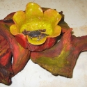 Flower on driftwood -  Carol Way - Sample