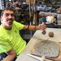 Jason Burley stamping clay