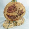 3-sided vase with leaf prints - Kendra Arnold