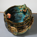 Coil Pot with flowers - Kendra Arnold