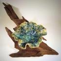 Leaf Bowl on Driftwood 3- Kendra Arnold