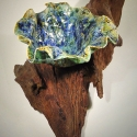 Leaf Bowl on Driftwood  1- Kendra Arnold