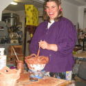 Lauren Svacek making a pot