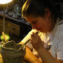 Lauren Svacek working in clay