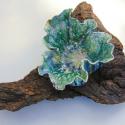 Leaf Bowl on Driftwood Bark 2 - Kendra Arnold