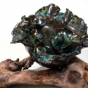 Leaf Bowl on driftwood - Erin Imes