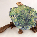 Leaf Bowl on Driftwood with 1 Flower- Kendra Arnold