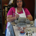 Zoee Wilson working on Fish Pot