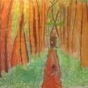Door in the Woods - Lukas Corradini - Pastel