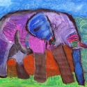 Elephant Walk -Stacie Lanners -Oil Pastels