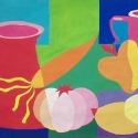 Color Still Life - Carol Way - Tempura Paint
