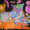 Leopard Love - Alicia Feebus - Oil Pastel
