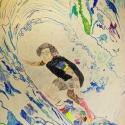 Surf's Up - Leo Black - Colored Pencill