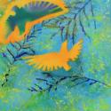 Birds in Cedar - Jason Burley - Airbrush Acrylic