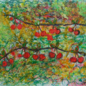 Cherries - Jason Burley - Touch Drawing Mixed Media