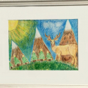 Christmas Landscape - Geno Dogans - Colored Pencil