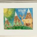 Christmas Landscape - Geno Dogans - Colored Pencil