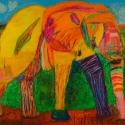Elephant - Talia Petosa - Oil Pastel