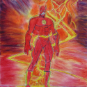 Flash - Andrew Bishop - Colored Pencil, Pastel