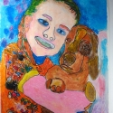 Penny and Brain - Lauren Svacek - Oil Pastel