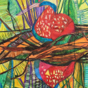 Reflection - Talia Petosa - Oil Pastel, Colored Pencil