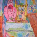 Sponge Bob and Patrick - Lauren Svacek - Colored Pencil