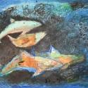 Porpoises  - Stacie Lanners - Oil Pastel