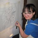 Talia Petosa projecting web
