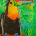If One Can't do it Tucan - Lauren Svacek - Oil Pastel