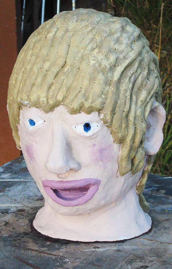 Erin Imes - Portrait Head -  hand painted ceramics