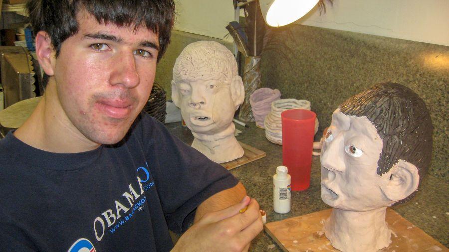 Leo Black with Portait Head