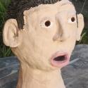 Leo Black - Portrait Head -   hand painted ceramics