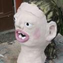 Stacie Lanners - Portrait Head - hand painted ceramics