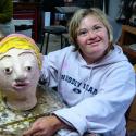 Alicia Feebus with her Portrait Head