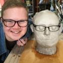 Andrew Bishop- Portrait Head in progress
