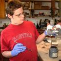 Landon Brown making the Wolf Fountain head