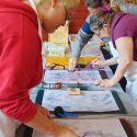 Kendra Arnold teaching Touch Drawing - Transition Fair 2016