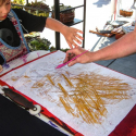Touch Drawing at the Friday Market in Langley