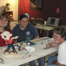 Erin, Stacie and Lukas at The Festival of the Arts