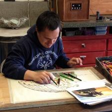 Lucas Etzell drawing Train Your Dragon