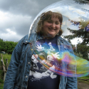 Erin Imes inside bubble