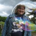 Erin Imes inside bubble