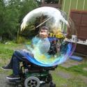 Jason Burley inside the bubble